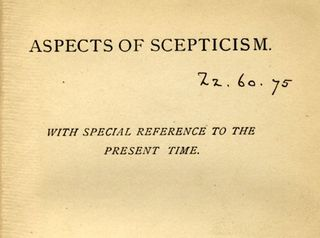 Christopher Hamilton On Scepticism