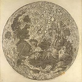 Map of the Moon by Cassini