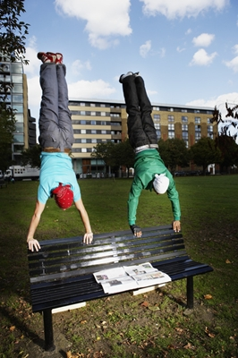 Men Doing Handstands