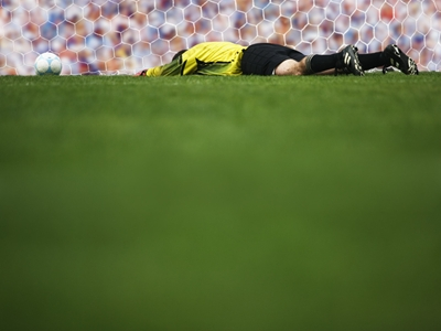 Goalkeeper on ground